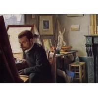 Felix Jasinski in His Printmaking Studio
