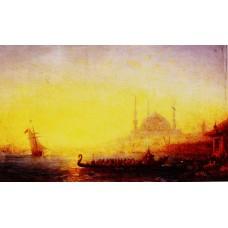 Constantinople Au Soleil Couchant
