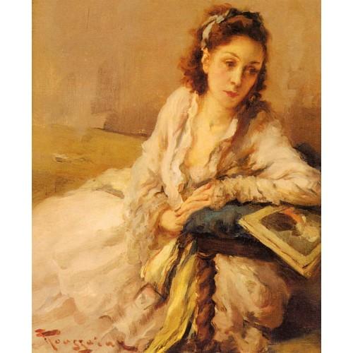 Lady Resting on a Cushion