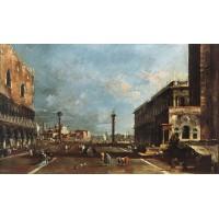 View of Piazzetta San Marco towards the San Giorgio Maggiore