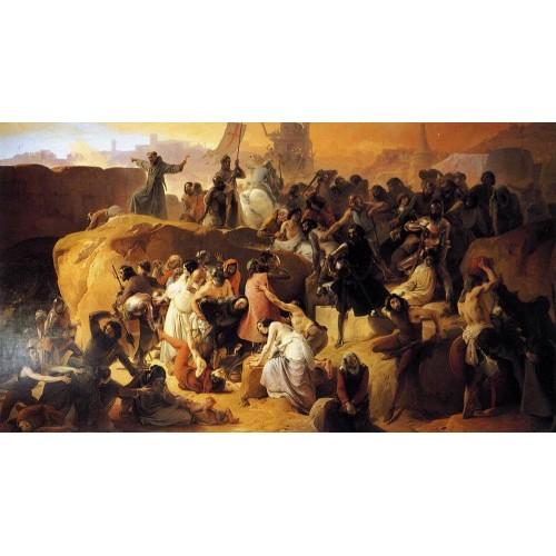 Crusaders thirsting near jerusalem