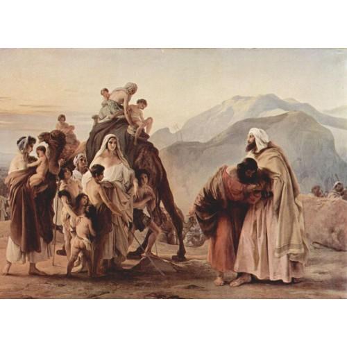 Meeting of jacob and esau 1844