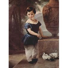 Portrait of don giulio vigoni as a child 1830
