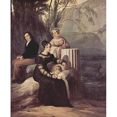 Portrait of familie stampa di soncino