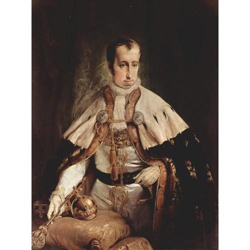 Portrait of ferdinand i of austria 1840