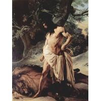 Samson slays the lion