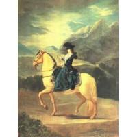 Equestrian Portrait of Dona Maria Teresa Vallebriga
