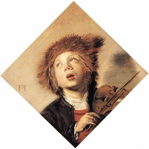 Boy Playing a Violin