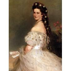 Empress elisabeth of austria in dancing dress