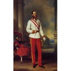 Franz joseph i emperor of austria wearing the dress uniform of an austrian field marshal with