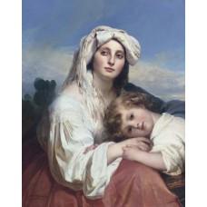 Italian woman with child