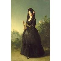 Portrait of infanta luisa fernanda of spain duchess of montpesier