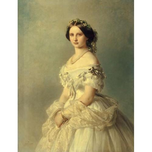 Portrait of princess of baden