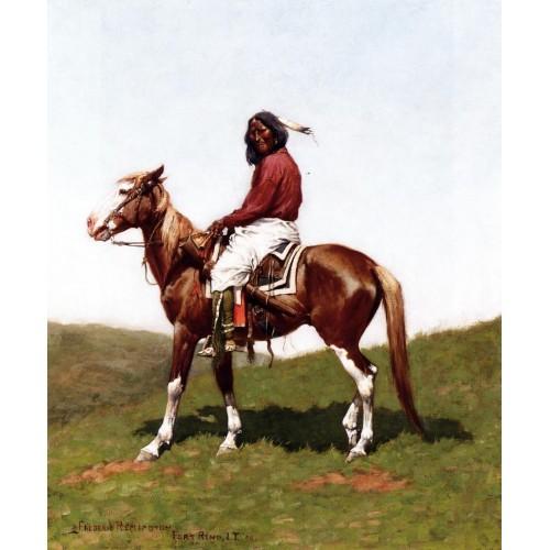 Comanche Brave Fort Reno Indian Territory