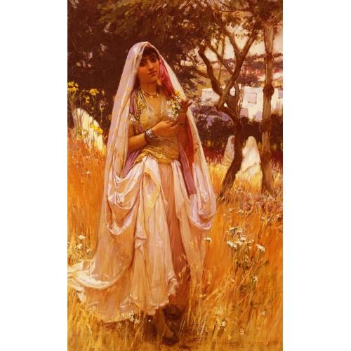 Moorish Girl Algiers Countryside