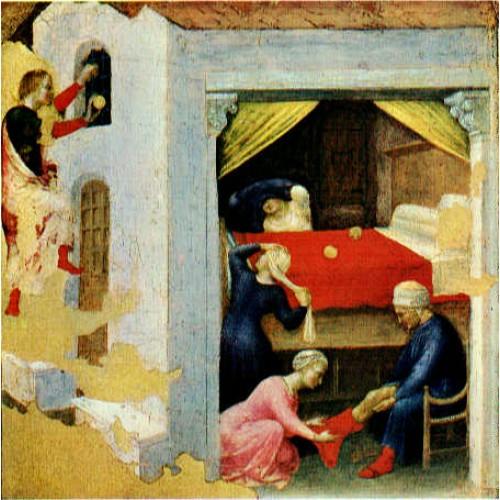 Quaratesi Altarpiece St Nicholas and three poor maidens