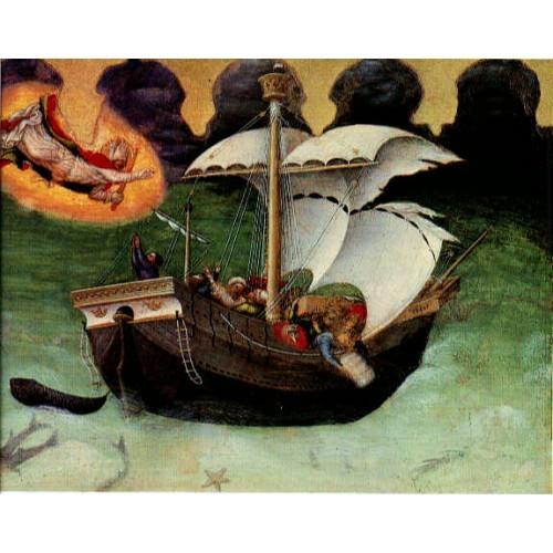 Quaratesi Altarpiece St Nicholas saves a storm tossed shi