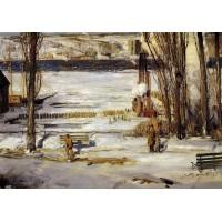 A Morning Snow Hudson River
