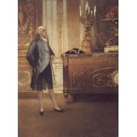 A Gentleman Waiting in an Interior