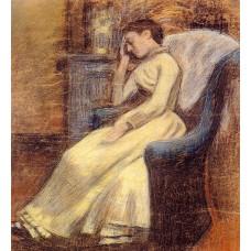 Julie Lemmen Sleeping in an Armchair