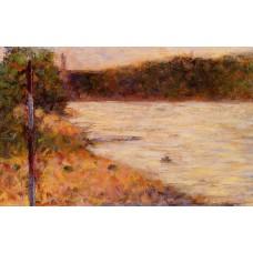 Bathing at Asnieres Banks of a River