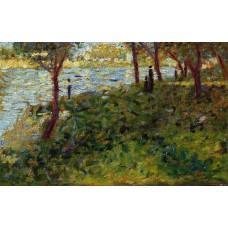 La Grande Jatte Landscape with Figures