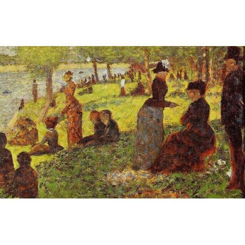La Grande Jatte Sketch with Many Figures