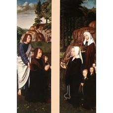 Triptych of Jean Des Trompes (side panels)