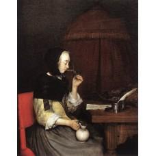 A Woman drinking Wine
