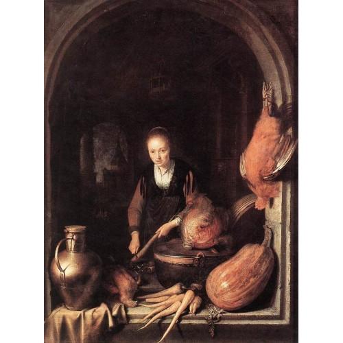Woman Peeling Carrot