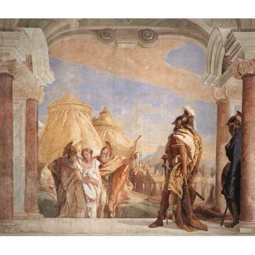 Eurybates and Talthybios Lead Briseis to Agamemmon