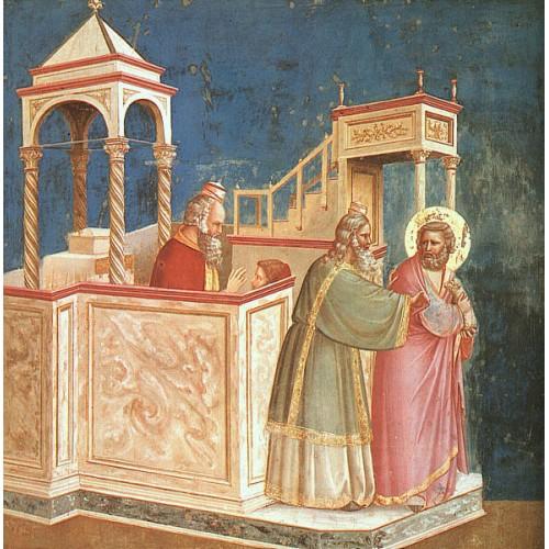 Scenes from the Life of Joachim 1 Expulsion of Joachim from