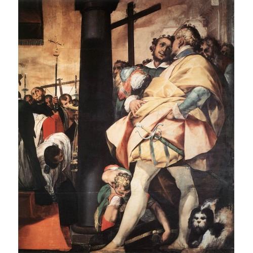 St Charles Borromeo Erecting Crosses a the Gates of Milan (d