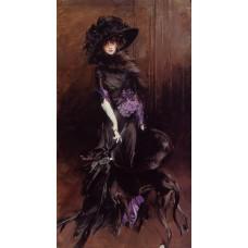 Portrait of the Marchesa Luisa Casati with a Greyhound