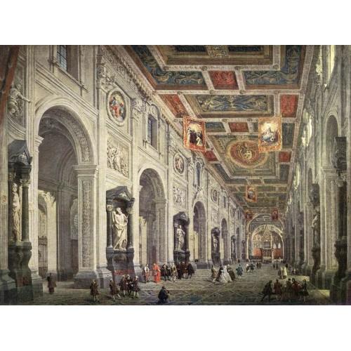 Interior of the San Giovanni in Laterano in Rome