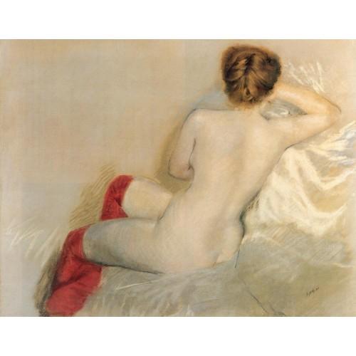 Nudo con le Calze Rosse