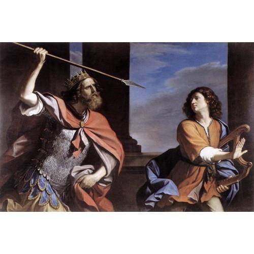 Saul Attacking David