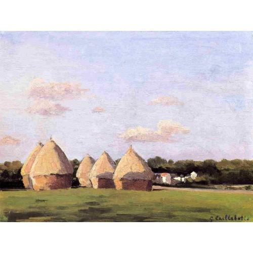 Harvest Landscape with Five Haystacks