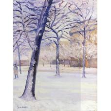 Park in the Snow Paris