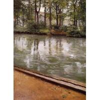 Riverbank in the Rain
