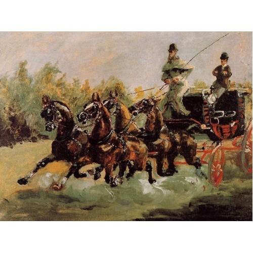 Alphonse de Toulouse Lautrec Driving His Four in Hand