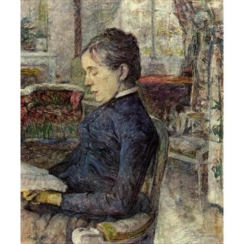 Countess Adele Zoe de Toulouse Lautrec in the Salon at Malro