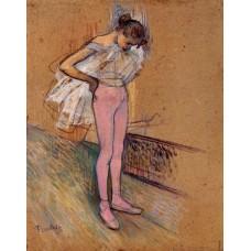 Dancer Adjusting Her Tights