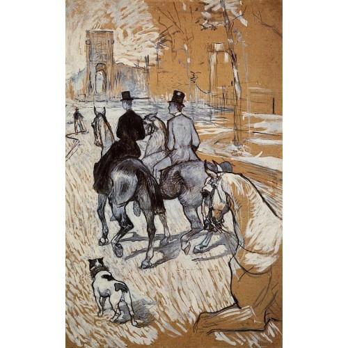 Horsemen Riding in the Bois de Boulogne