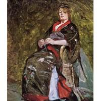 Lili Grenier in a Kimono