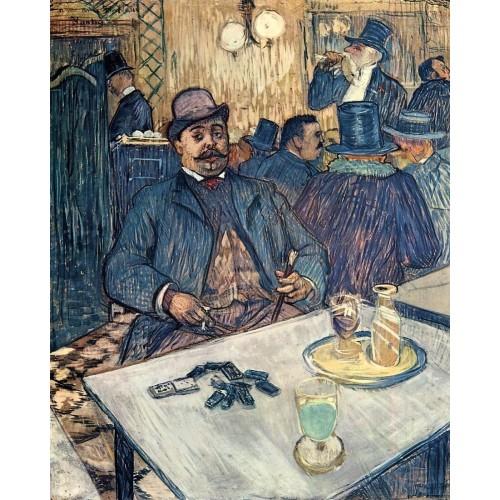 Monsieur Boleau in a Cafe