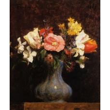 Flowers Camelias and Tulips