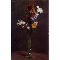 Narcisses Hyacinths and Nasturtiums