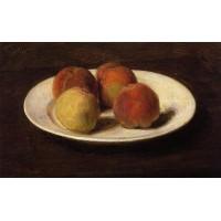 Still Life of Four Peaches