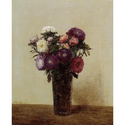 Vase of Flowers Queens Daisies